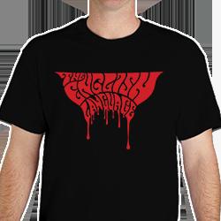 The English Language Band Music t-shirt shirt painted black logo