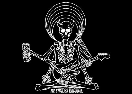 The English Language Band Music t-shirt shirt skull skeleton shiva