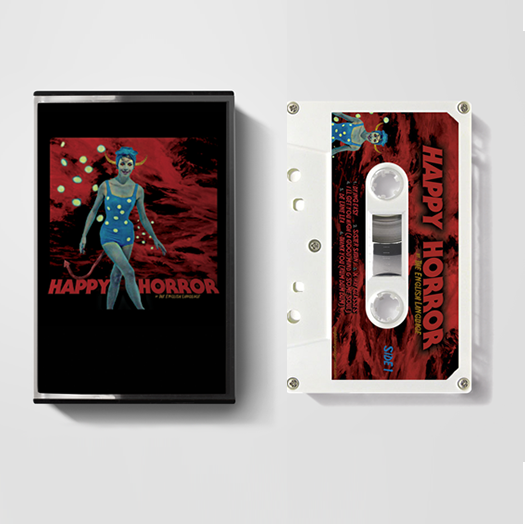 the english language band album art happy horror tape cassette