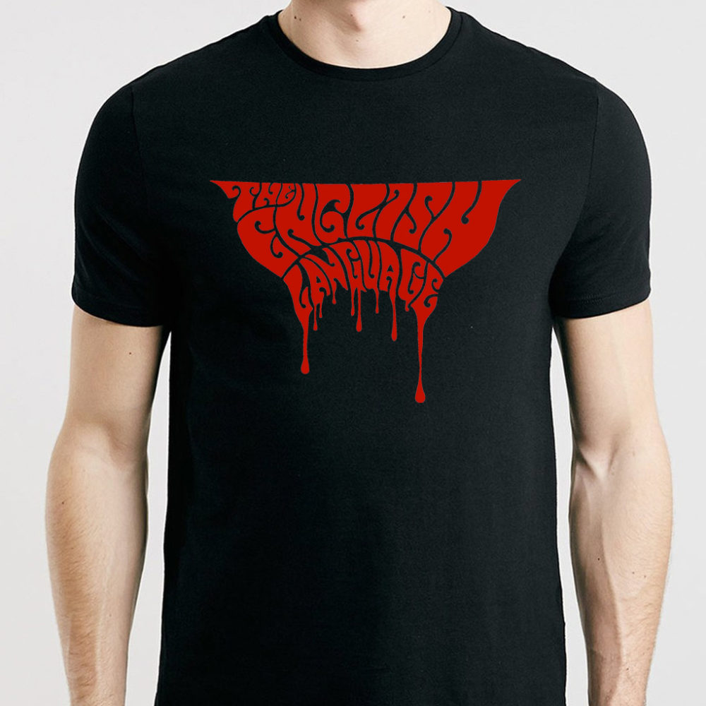 the english language band t-shirt merch blood logo