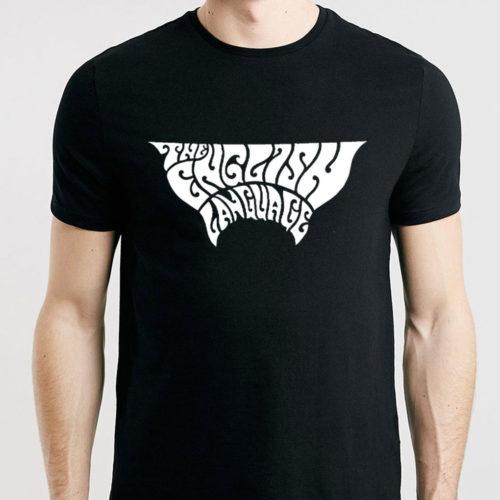 the english language band t-shirt merch plain logo