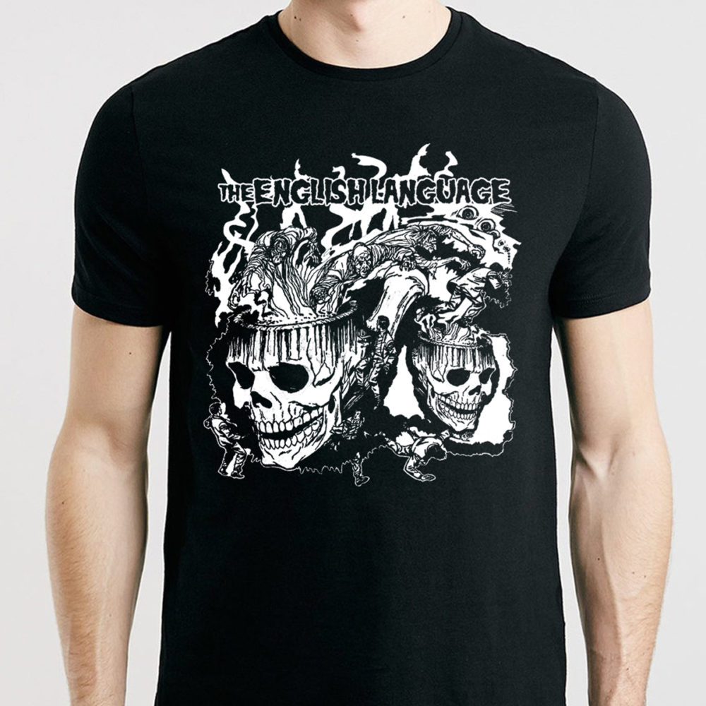 the english language band t-shirt merch skull doomsmoke