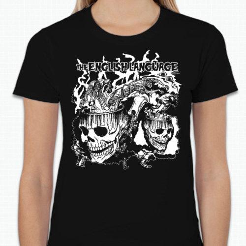 the english language band t-shirt merch skull doomsmoke